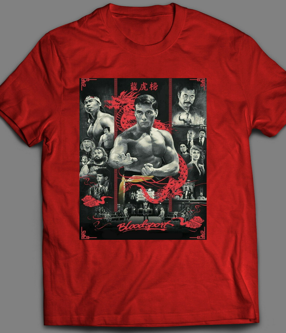BLOOD SPORT MOVIE POSTER T-SHIRT MANY COLORS New Unisex Funny Tops Tee Shirt 11 Colors Tshirt For Men Women image