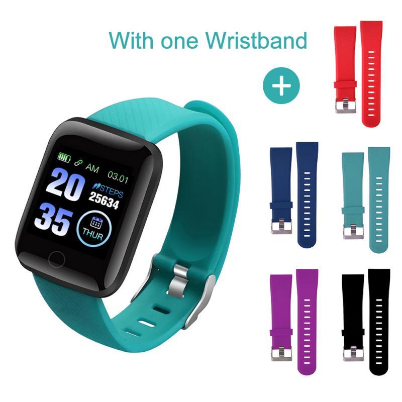 Smart Watch Bracelet Heart Rate Tracker Pedometers Blood Pressure IP67 Waterproof 116 Plus Wirstband For IOS Androd PK IWO 8