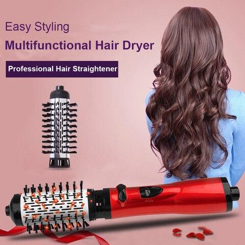 quente encaracolado secador de cabelo 2 em 1 quente pente de cabelo passo secador de