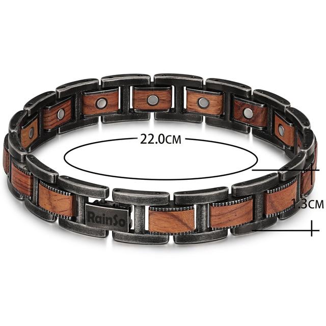 H68b547c058244b869a1739e831669179k - Men's Wrist Bracelet Zebrawood Magnetic Health Care