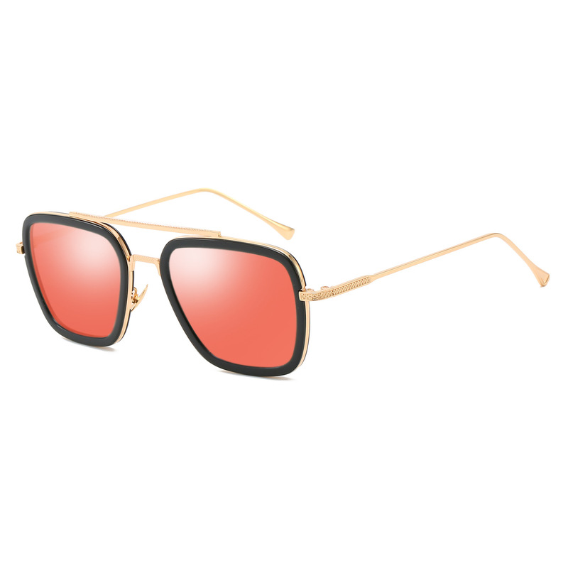KARL iron man sunglasses Tony Stark glasses metal square frame fashion punk Lentes Iron Man Occhiali UV400