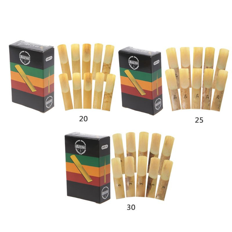 OOTDTY Hot 10pcs Eb Alto Saxophone Reeds Strength 2 2.5 3 Sax Woodwind Instrument Parts