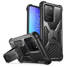 Für Samsung Galaxy S20 Ultra Fall/S20 Ultra 5G Fall ich Blason Transformator Dual Layer Rugged Stoßstange fall mit Gebaut in Ständer