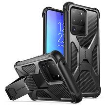 עבור סמסונג גלקסי S20 Ultra מקרה/S20 Ultra 5G מקרה I blason האמריקאי שנאי כפול שכבה מוקשח פגוש מקרה עם מובנה Kickstand