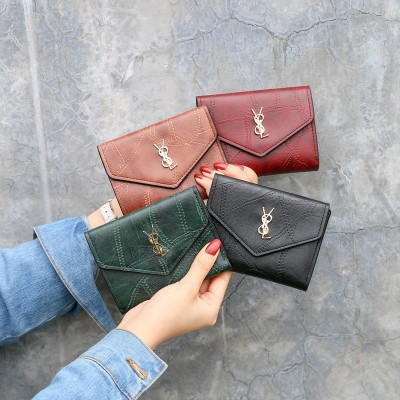 NEW Mini Retro Wallet Women Purse Female Short Mini Wallets Korean Purse Female Small Wallet For Women Coin Purse Card Holde