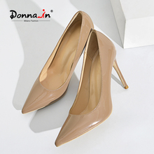 Shoes Pumps Wedding-Party-Shoe Women Heels High-Heels Pointed-Toe Sexy Donna-In Microfiber