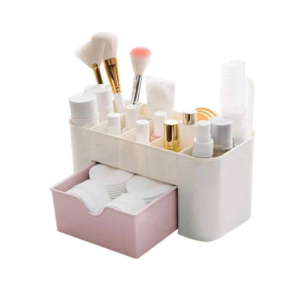 1/2Pcs Plastik Kotak Penyimpanan Kosmetik Makeup Sikat Pemegang Penyimpanan Perhiasan Laci Organizer Serba-serbi Penyimpanan Rak Organizer