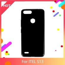 S13 caso matte macio silicone tpu capa traseira para itel s13 caso do telefone fino à prova de choque