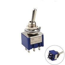 цена на Deep Blue Mini 6 Pin 2 Position Toggle Switches ON-ON DPDT Mini Toggle Switch 6A/125V 3A/250V AC MTS-202 Navy SL