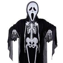 Finger-Gloves Ridding Skull Skeleton Knitted Fluorescent Cool Black Autumn Winter Children