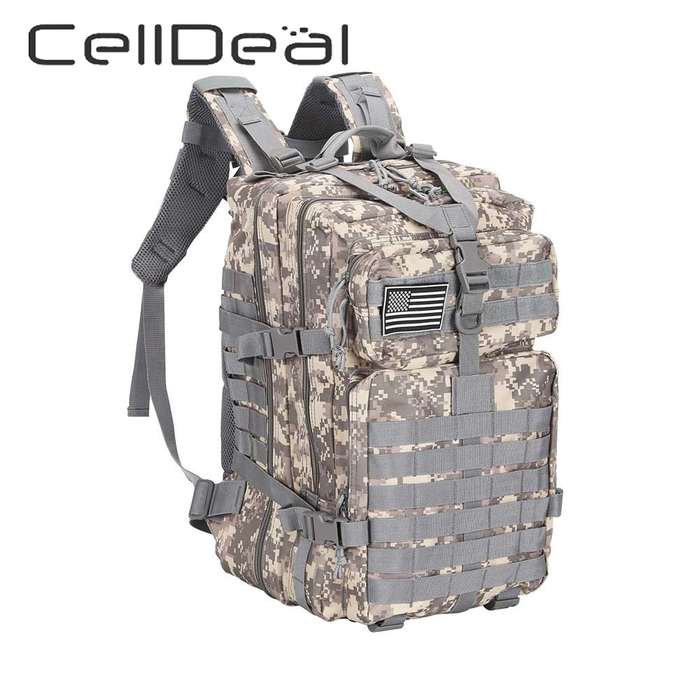 1 Pcs Large Capacity Men Army Military Assault  3P Outdoor Durable Oxford Bag Camping Hunting Hiking Backpack Unisex 5 Styles