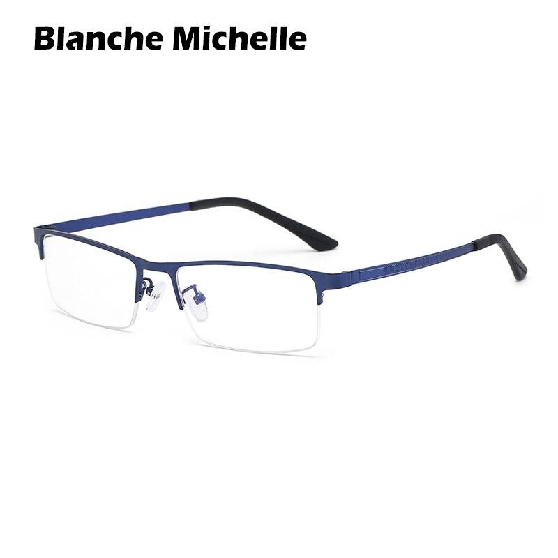 Blanche Michelle Blue Light Glasses Frame Men Transparent Computer Glasses Eyeglass Frame UV Protection Rectangular Alloy Frame