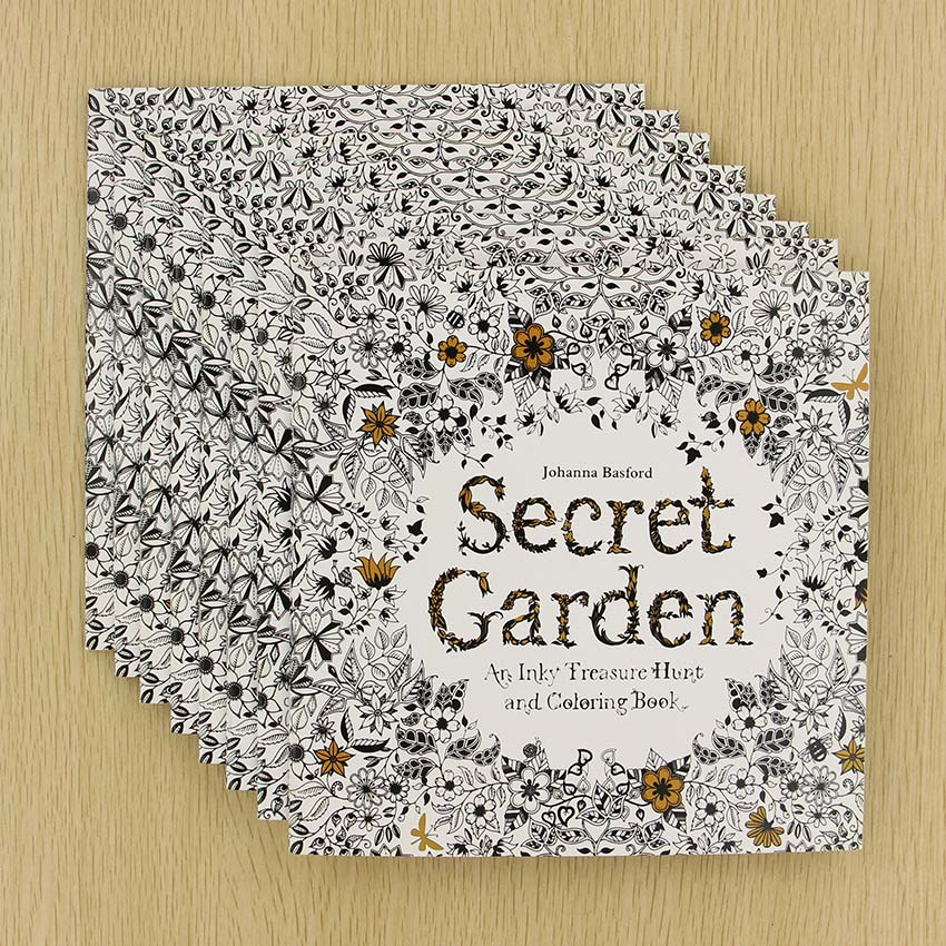 Secret Garden English Edition Coloring Book For Children Adult Relieve Stress Kill Time Painting Drawing Book 24 Pages