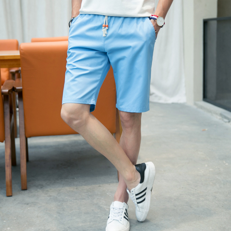 Summer Shorts Male Fifth Pants Students Korean-style Casual Men Versatile Shorts Large Trunks Beach Shorts