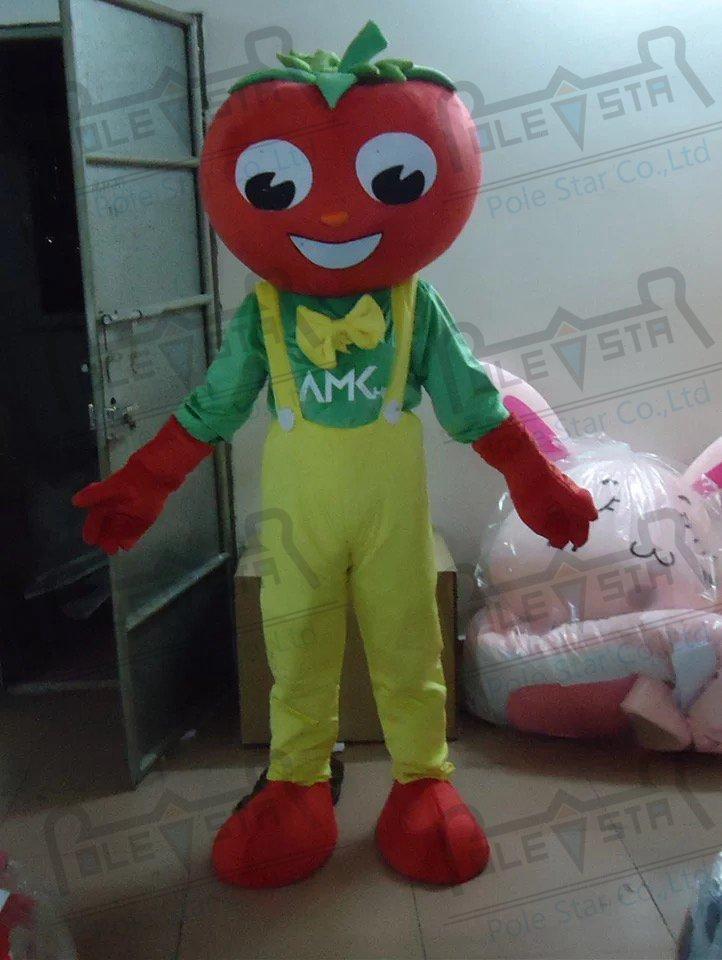 quality apple mascot  costumes cartoon happy face fruit mascot design