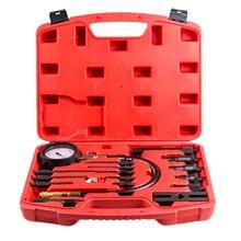 Car Diesel Engine Cylinder Compression Presssure Test Meter Gauge Tool Kit Set 17Pcs