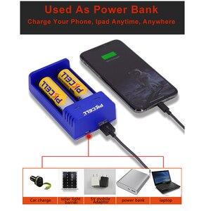 Image 3 - PKCELL 18650 מטען תשלום עבור 3.7V AA/AAA 26650 16340 16650 14650 18350 18500 18650 ליתיום סוללה מטען USB 5V 2A 2 חריץ