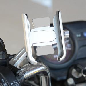 Image 4 - 360 grad Universal Metall Bike Motorrad Spiegel Lenker Smart Telefon Halter Stehen Halterung Für iPhone Xiaomi Samsung 4 6,5 zoll P