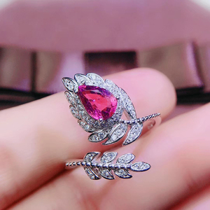 Image 2 - CoLife Jewlery 925 Silver Pink Topaz Ring for Party 4*6mm Natural Topaz Silver Ring Fashion Silver Gemstone Ring