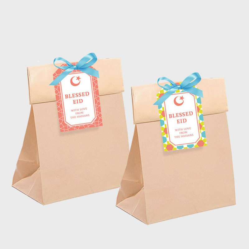 Customized Eid Mubarak Gift Tag Eid Mubarak Favour Tag Ramadan Party Supplies