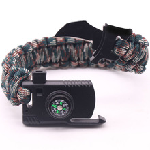 Braided Bracelet Men Multi-function Paracord Survival Bracelet Outdoor