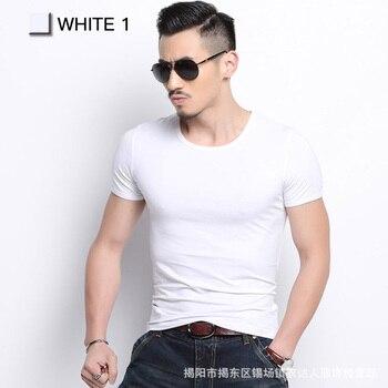Men Tshirt Spandex Fitness Gym Clothing Man Tops Tees T Shirt For Male Solid Color Tshirts multi Colors T-Shirt XS-XXL 4