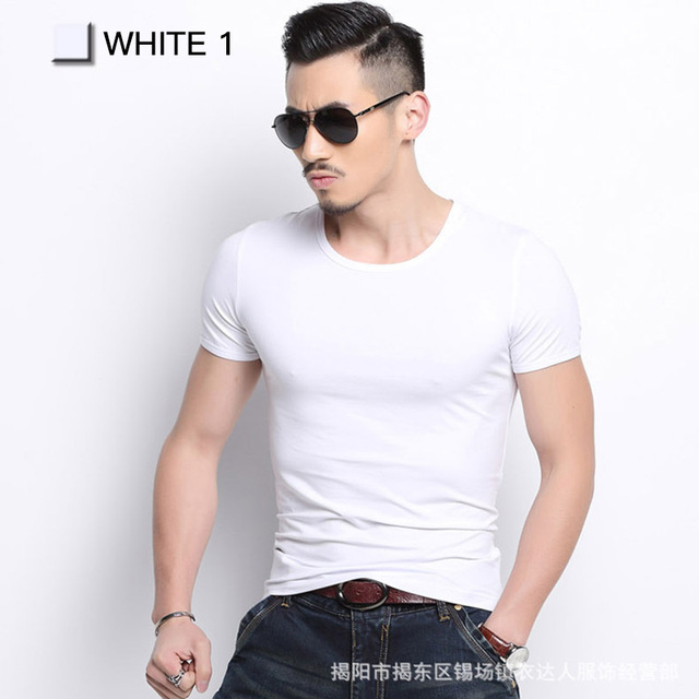 Solid Color Slim Fit T-shirts 6