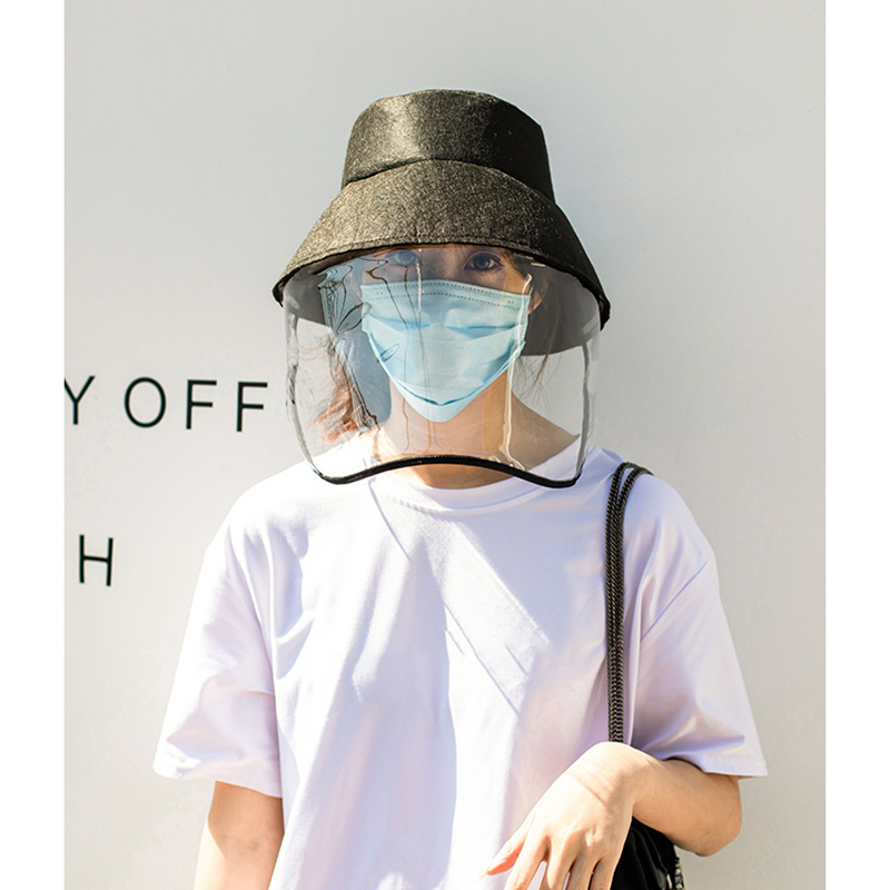 Reuse Safety Anti Germs Dust Hats Anti Flu Spittle Anti Dust Cover Full Face Eyes Protection Caps Plastic Cover With Hat
