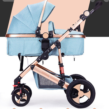 цена на IIILOVEBABY baby stroller 2 IN 1 stroller can sit reclining Folding Lamp two-way four-wheel shock absorption