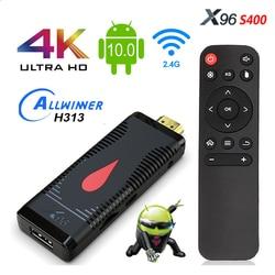 ТВ-флешка X96 S400, Android 10,0, Allwinner H313, 4K, 60 кадров/с, 2,4 ГГц, Wi-Fi, 2 + 16 Гб