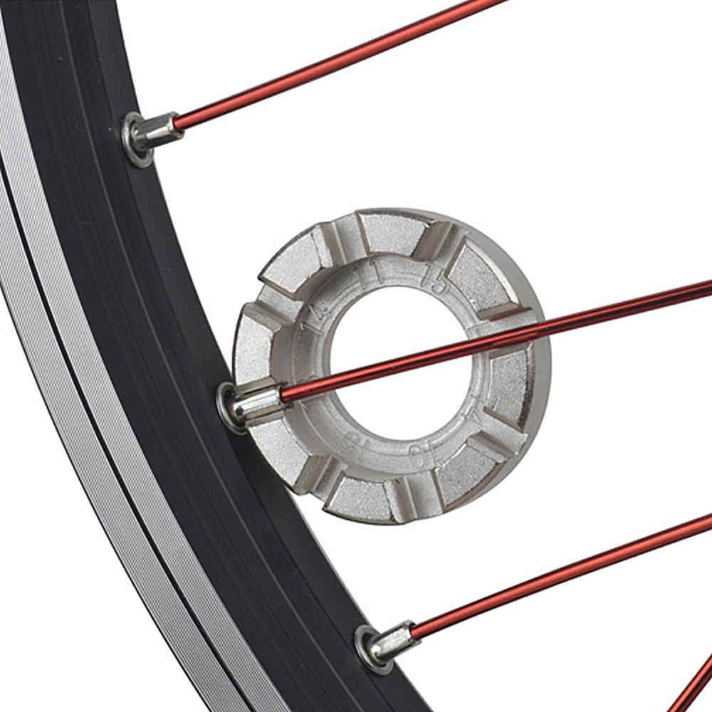 Bike Wheel Rim Spanner Adjuster Cycling Wrench Spoke Tool Set Groove Repair Key