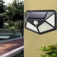 Lámpara solar Led con sensor de movimiento para exteriores, luz nocturna para decoración de jardín, Calle y porche, IP65, 3 modos, 100 Led