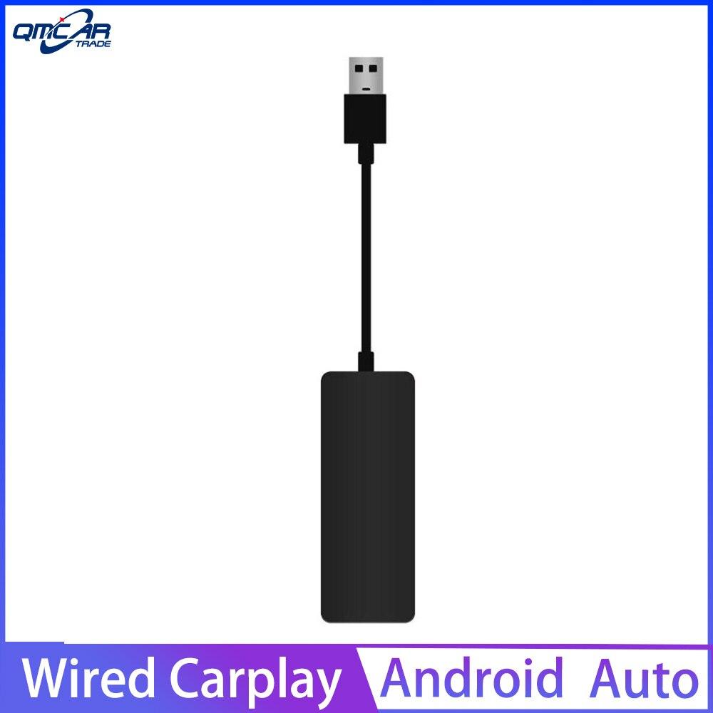 QMCAR Smart link Verdrahtete Apple USB CarPlay Dongle für Android Auto Mini USB Carplay Stick mit Android Auto Stecker und spielen Geändert-in TV-Receiver für Auto aus Kraftfahrzeuge und Motorräder bei title=