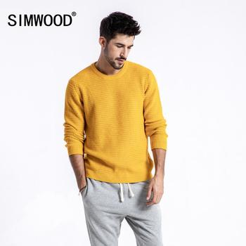 SIMWOOD Brand Sweater Men 2019 Autumn Winter Fashion Pullover Men Knitted Sweater Slim Fit Male Plus Size High Quality 180374