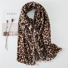 Women Scarf Luxury Designe Leopard Print Long Scarf Autumn Foulard Femme Fashion Cotton Shawl Print Shawl(China)