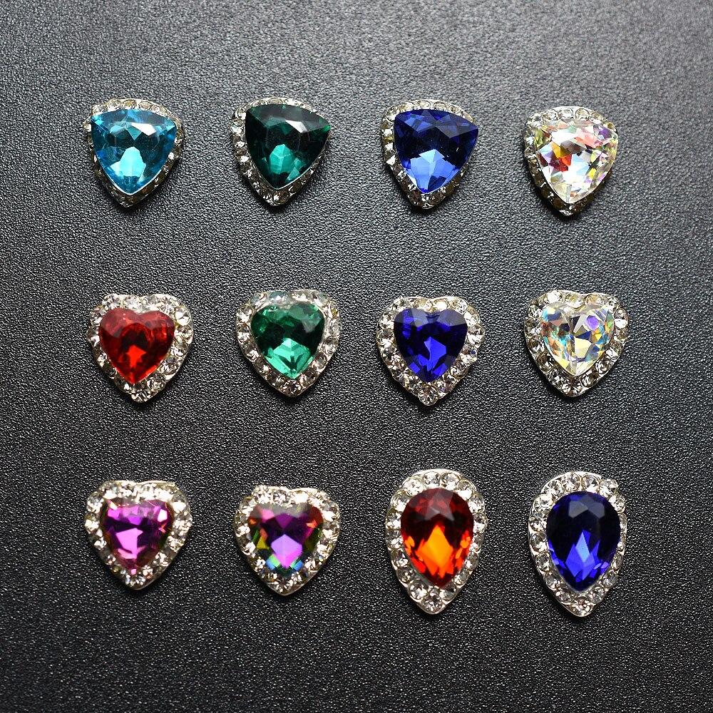 Новинка 10 шт блестящие украшения для дизайна ногтей