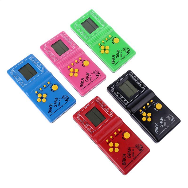 1 шт. ЖК-игра, электронный Винтажный Классический Tetris Brick, карманные аркадные игрушки