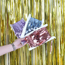 Wedding Sequin Backdrop Stand PhotoBooth Birthday Party Wall Decorations Mariage Mirror Foil Fringe Curtain Baby Shower Drape