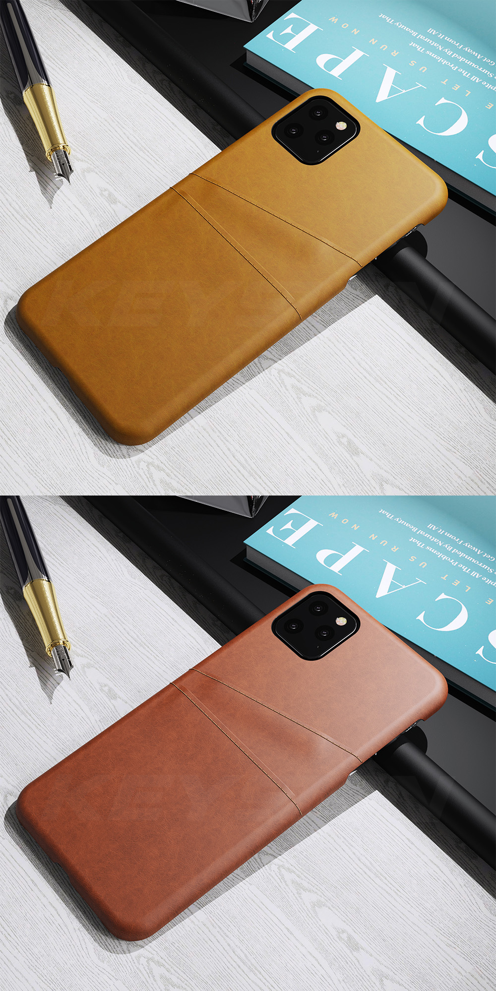 KEYSION Leather Card Pocket Cases for iPhone 11/11 Pro/11 Pro Max 4