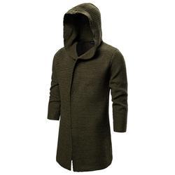 Зимний свитер, мужские однотонные свитера, теплые Повседневные вязаные пуловеры