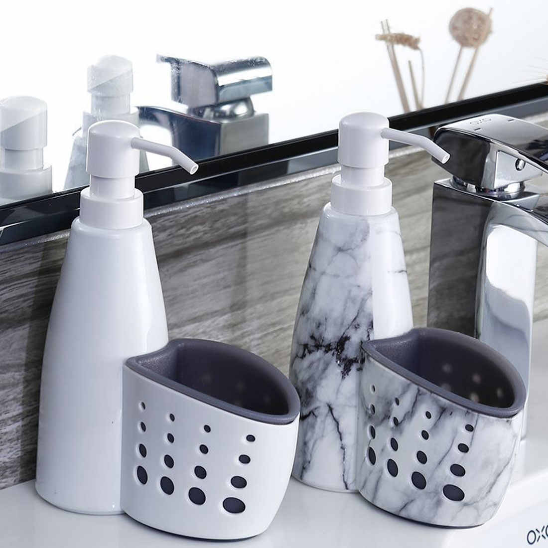 New Multifunction Kitchen Bathroom Liquid Detergent Storage Box Rack Cleaning Sponge Drainboard Soap Holder