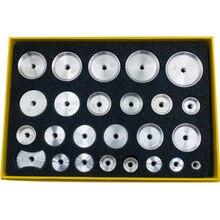 25 Stuks Terug Aluminium Praktische Duurzaam Professionele Case Sterft Set Horloge Reparatie Schroefdraad Tang Crystal Deurdrangers Schimmel Druk Tool