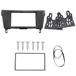 2 Din Car Audio Frame Dash Kits DVD Panel Fascia Adaper Kit Radio Frame Facia for 2014 Nissan X-Trail Qashqai