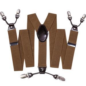 Коричневые регулируемые модные подтяжки Barry.Wang, черные кожаные подтяжки с 6 застежками, винтажные повседневные брюки, ремень, подарок для от...