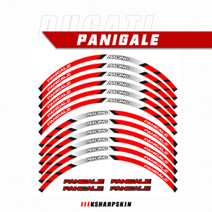 Motorcycle sticker Front Rear wheels decals Reflective waterproof stickers rim stripes For DUCATI PANIGALE 959 1199 V4 1299 899