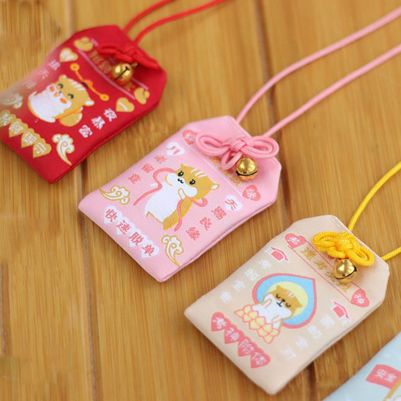 1 Pcs Cartoon Japanese Traditional Omamori Mascot Mouse Misfortune Lucky Omamori Key Holder Key Chain Keychain Party Favors