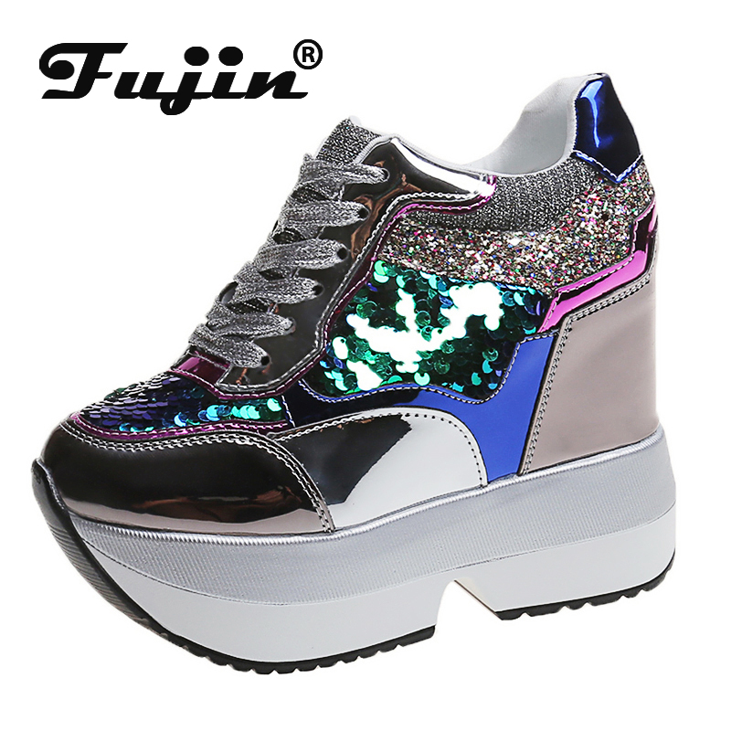 Fujin Chunky Chaussure New Sneakers Dropshipping Women Platform White Sneakers Mellow Shoes Casual Flats Breathable Soft Femme