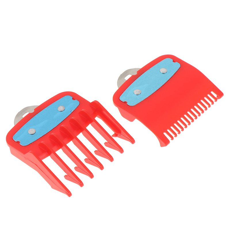 Image 2 - 2Ppcs(1.5mm+4.5mm) Guide Comb Sets 1.5 And 4.5 Mm Size Red Color Attachment Comb Set For Professional Clipper-in Hair Trimmers from Home Appliances