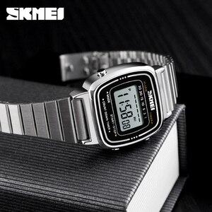 Image 3 - SKMEIแฟชั่นนาฬิกาผู้หญิงแบรนด์หรู 3Barกันน้ำสุภาพสตรีนาฬิกาขนาดเล็กDialนาฬิกาดิจิตอลนาฬิกาRelogio Feminino 1252