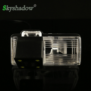 Car CCD 4 LEDS Vehicle Backup 170 degrees Rear View Reversing Camera For Toyota LAND CRUISER CROWN 2015 2016
